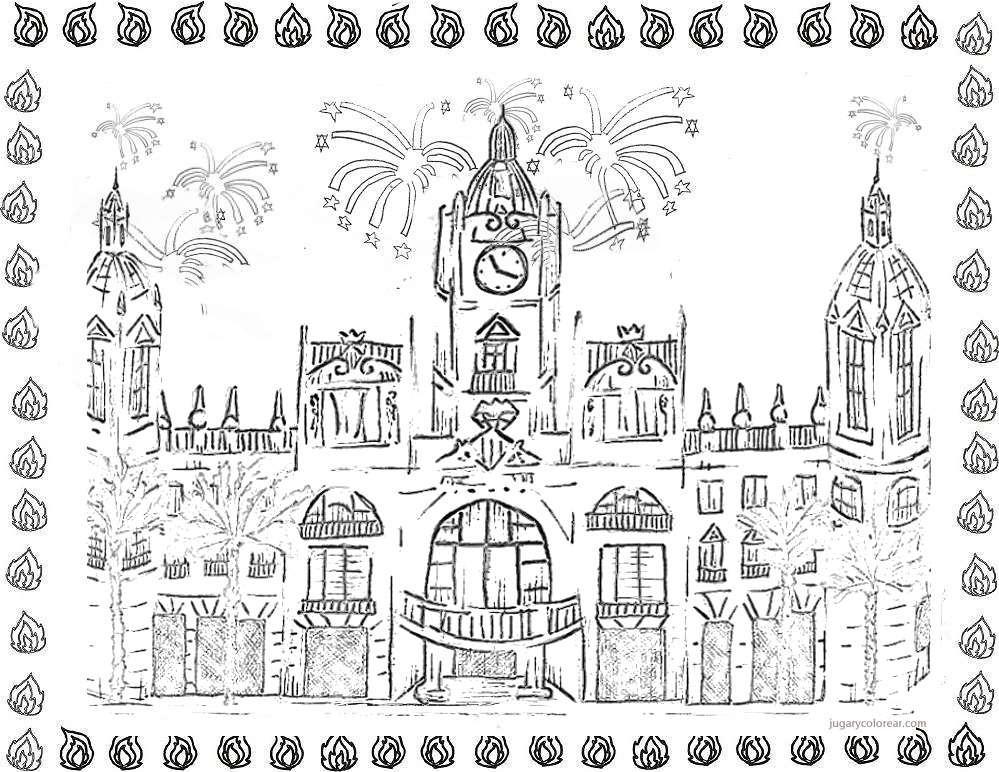 Dibujos de Fallas de Valencia para pintar | Colorear imágenes