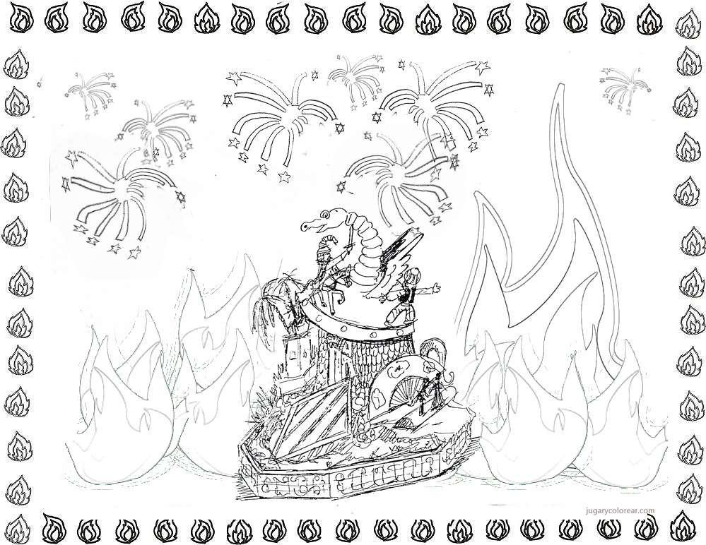 Colorear Dibujos Infantiles: Dibujos De Fallas De Valencia Para Pintar