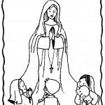 Día de Nuestra Señora de Lourdes para pintar