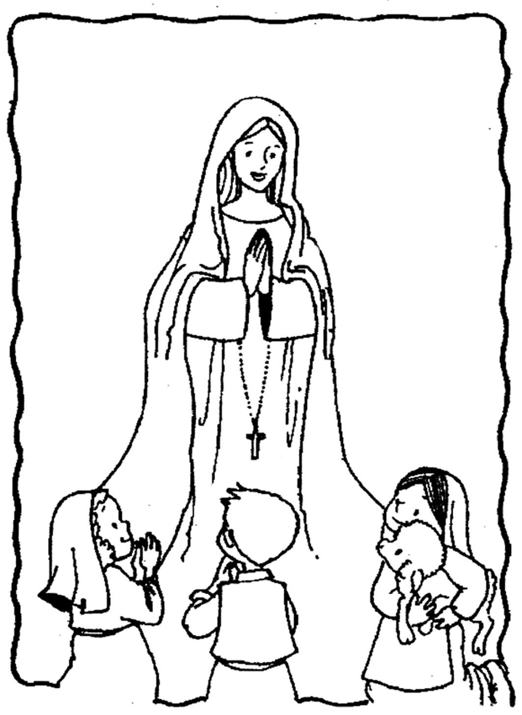 Día de Nuestra Señora de Lourdes para pintar | Colorear imágenes