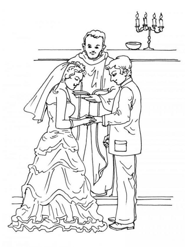 Matrimonio Catolico Para Niños : Dibujos del día matrimonio para colorear
