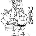 Dibujos para pintar de mecánicos
