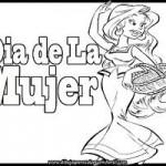 Dibujos del Día de la Mujer para descargar gratis y colorear el 8 de marzo