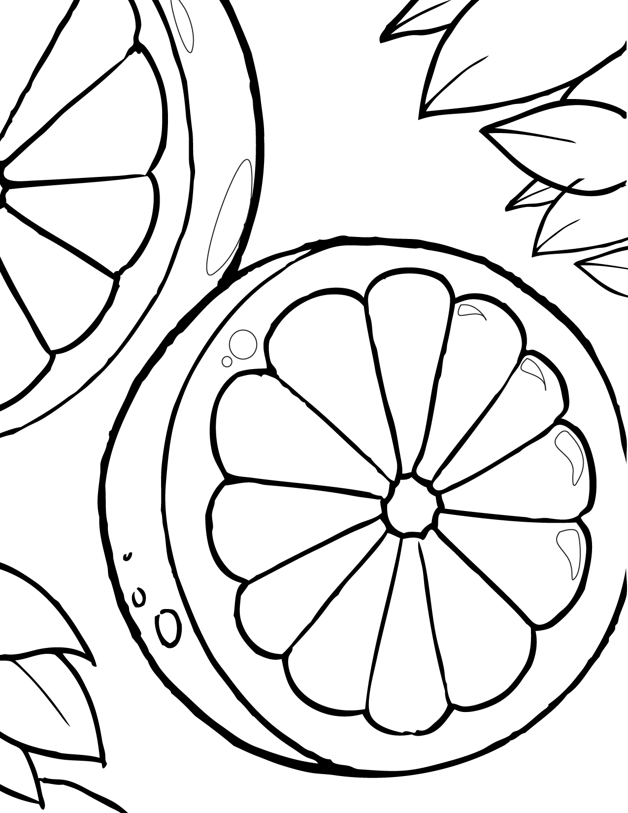the color orange coloring pages - photo#13