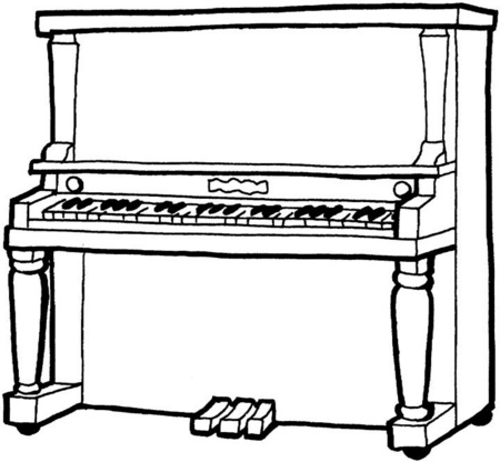 musical keyboard coloring pages - photo#23
