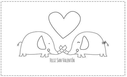 Tarjeta del Día de San Valentín para imprimir, recortar y colorear ...