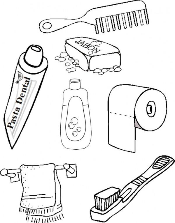 Dibujos de elementos de aseo personal para pintar for Jardinero en ingles