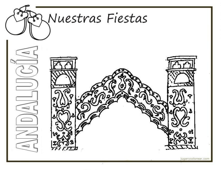 Dibujos del Día de Andalucía para pintar | Colorear imágenes