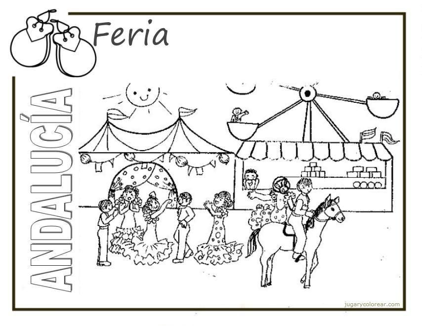 Dibujos del Día de la Comunidad Autónoma de Andalucía para pintar ...