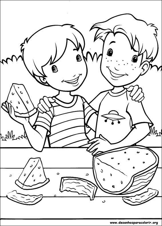 Dibujos divertidos del d a de la amistad para pintar colorear im genes - Dibujos naif para pintar ...