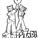 Dibujos divertidos del Día de la Amistad para pintar