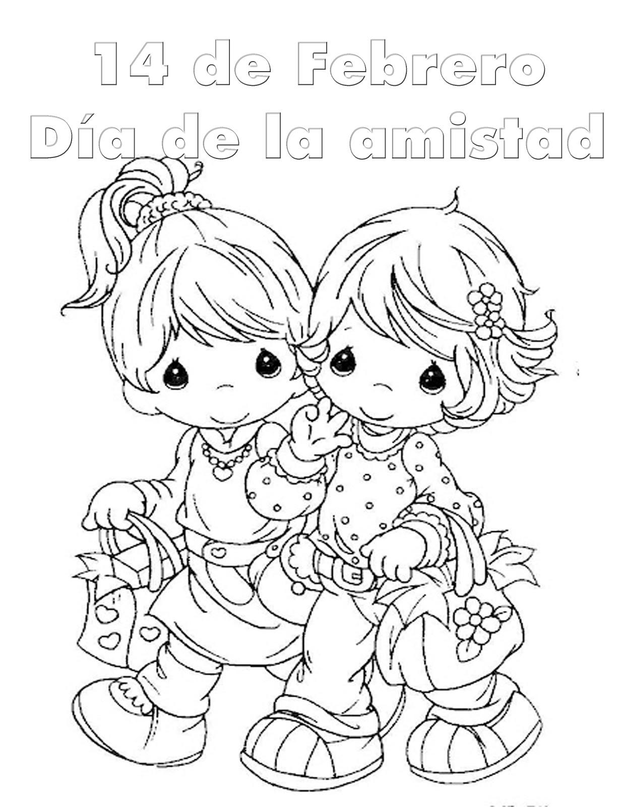 Coloreando Dibujos Bonitos Del Día Del Amor Y La Amistad