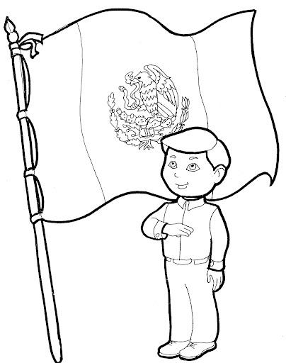 24 de febrero – Día de la Bandera de México para pintar | Colorear ...