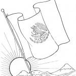 Dibujos de la Bandera de México para descargar, imprimir y pintar