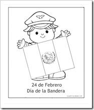 24 De Febrero Día De La Bandera De México Para Pintar Colorear