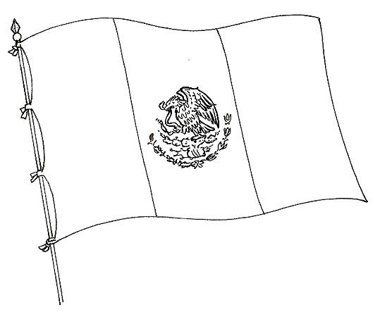 Dibujos de la Bandera de México para descargar, imprimir y pintar ...