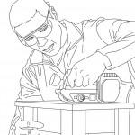 Dibujos de carpinteros para pintar