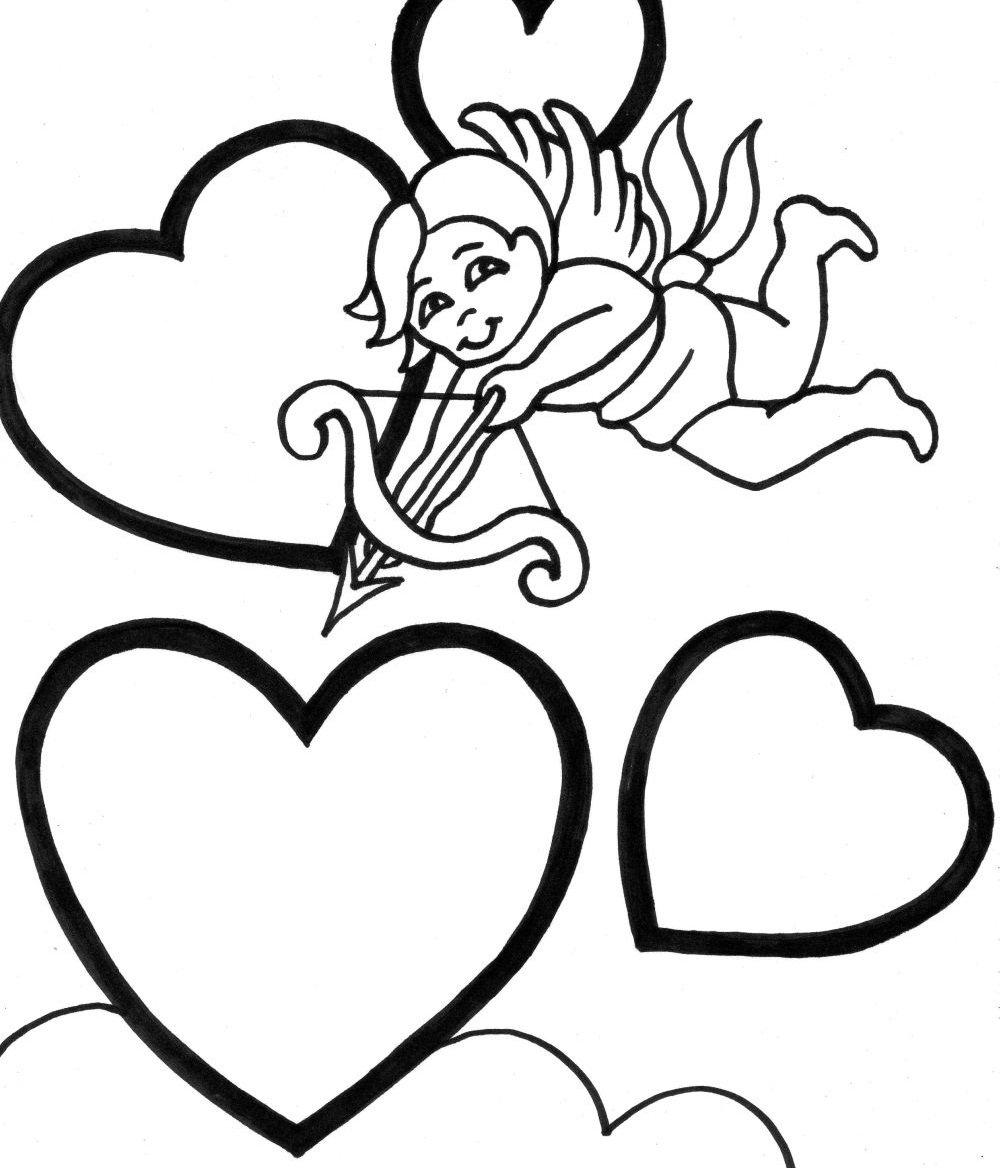 Fantástico Cupido Páginas Para Colorear Imprimibles Elaboración ...
