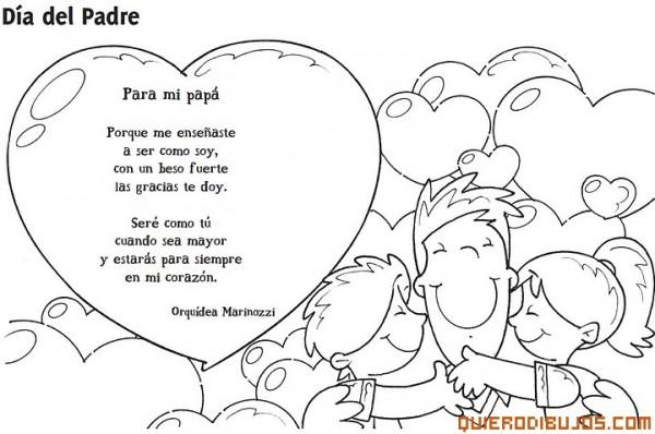 Dibujos De Felíz Día Papá Para Imprimir Y Pintar Feliz Día Del