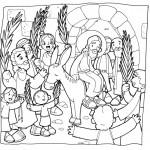 Dibujos del Domingo de Ramos para colorear