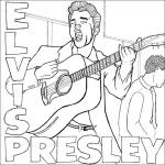 Dibujos de Elvis Presley para imprimir y pintar