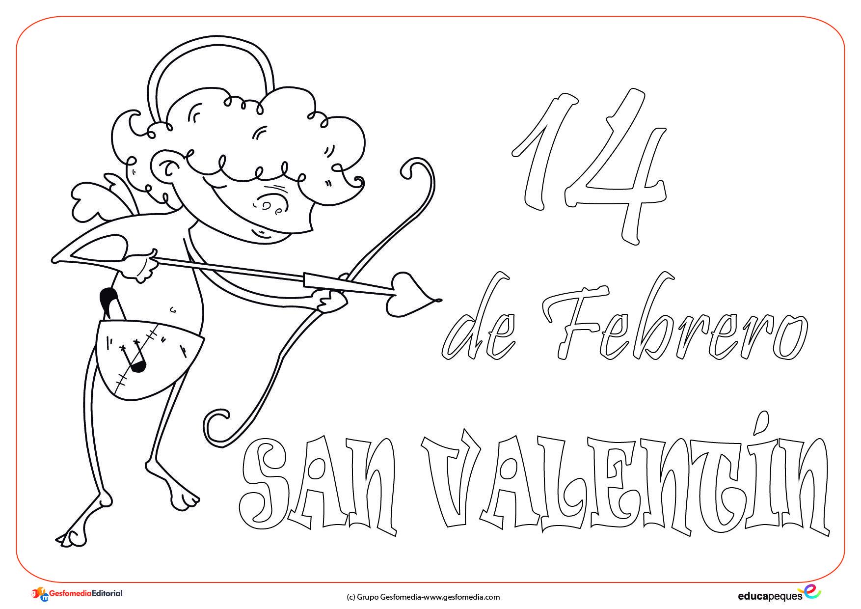 34 Imágenes Felíz Día de San Valentín para imprimir y colorear con ...