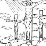 Dibujos de Cristo crucificado para descargar y pintar