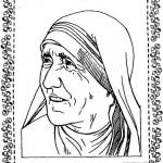 Dibujos para pintar de la Madre Teresa de Calcuta