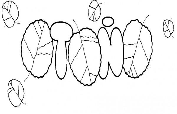 Dibujo De La Palabra Otoño Para Colorear Con Los Niños: Dibujos De Otoño Para Imprimir Y Colorear