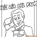 Dibujos de Felíz Día del Padre para colorear