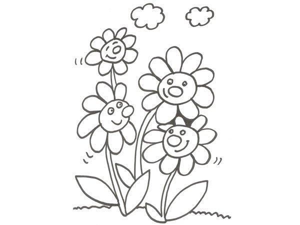 Pinto Dibujos Imagenes De Niños Felices Leyendo Para: Felíz Primavera Para Descargar, Imprimir Y Pintar