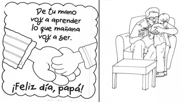 Dibujos de Felíz Día Papá para imprimir y pintar: Feliz Día del ...