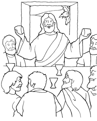 ultima-cena-para-colorear-Imagen-de-la-Última-Cena-de-Jesús