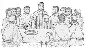 Dibujos de la Ultima Cena de Jesús para pintar | Colorear