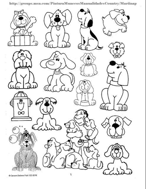 Plantillas con dibujos de animales para colorear y recortar ...