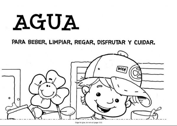Dibujos Para Colorear Del Agua Para Ninos: Dibujos Día Mundial Del Agua 22 De Marzo
