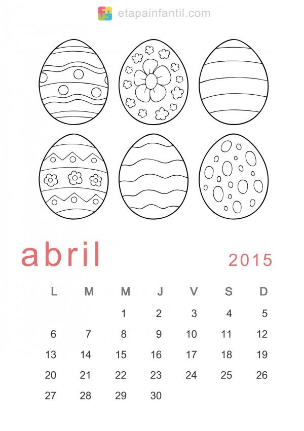 Colorear-Abril-2015-Calendario-para-imprimir-y-colorear
