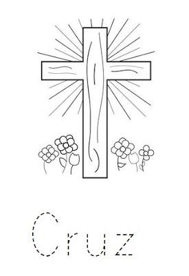 Dibujos de cruces para pintar colorear im genes for Donde queda santa cruz