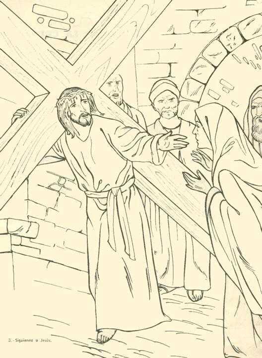 Dibujos del Vía Crucis de Jesús para colorear | Colorear