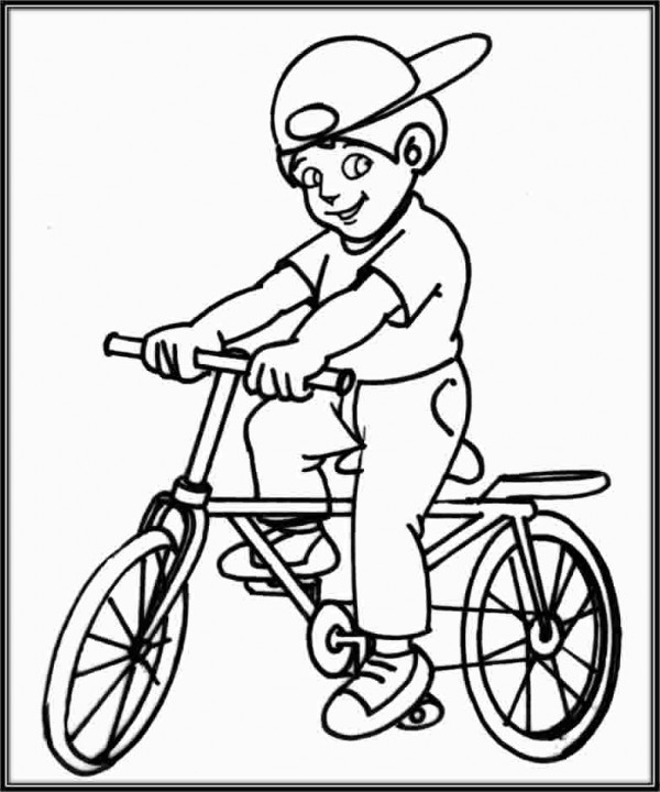 Dibujos De Niños En Bicicleta Para Colorear Colorear Imágenes