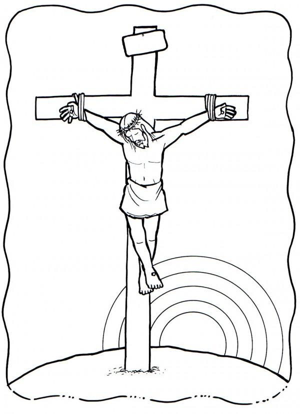 Matrimonio Catolico Resumen : Dibujo de una cruz para colorear en semana santa