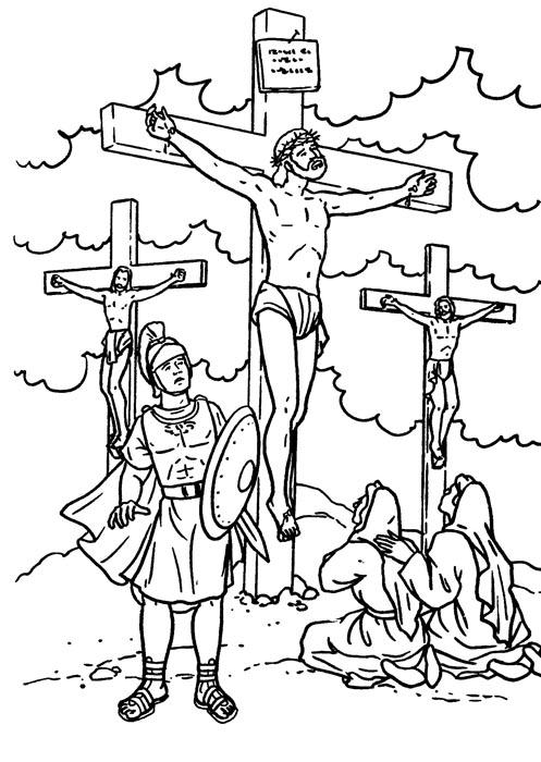 Dibujo de una cruz para colorear