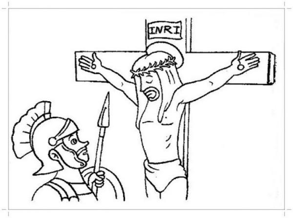 Jesús resucitando para colorear: Pintando a Jesús de