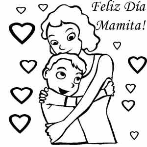 Dibujos De Felicidades Mamá Para Colorear Y Dedicar En El Día De La
