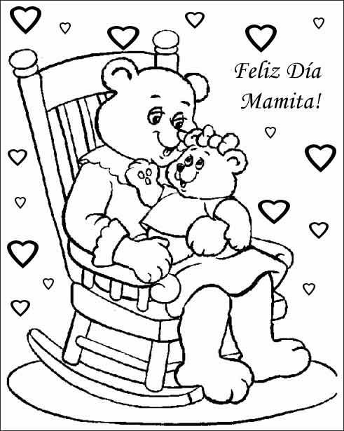 Dibujos de Felicidades Mamá para colorear y dedicar en el Día de la ...