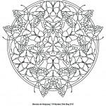 Dibujos de mandalas de mariposas para pintar