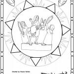 Mandalas de Pascuas para imprimir y colorear