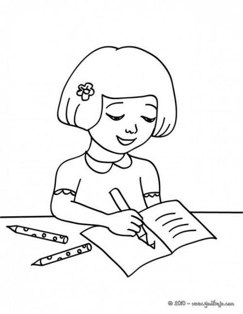 Dibujos De Niños Estudiando Para Imprimir Y Colorear Colorear Imágenes
