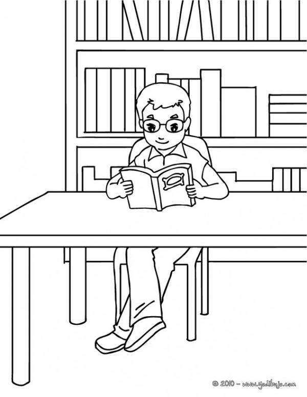 dibujos de ni241os estudiando para imprimir y colorear