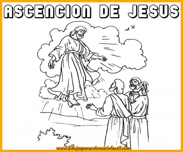 semanadibujos de semana santa ascencion de jesus para colorear